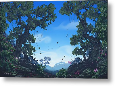 Summer Fields Metal Print by Cassiopeia Art