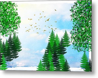 Summer Four Seasons Art Series Metal Print by Christina Rollo