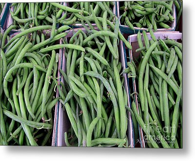 Summer Green Beans Metal Print by Kathie McCurdy