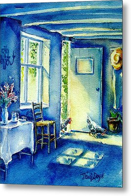 Summer Morning Visitors  Metal Print by Trudi Doyle