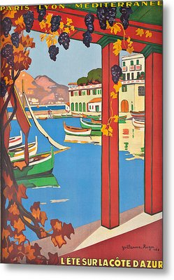 Summer On The Cote D Azur Metal Print by Guillaume Georges Roger