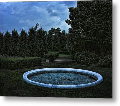 Summer Storm Coming Bahai Temple Metal Print by John Hansen