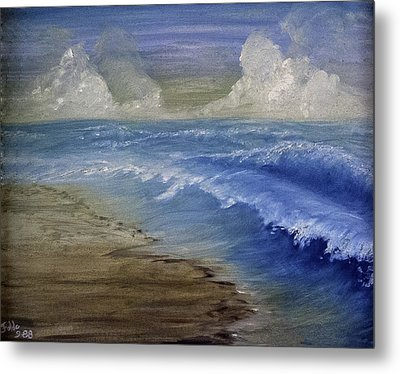 Summer Surf Metal Print by Judy Hall-Folde