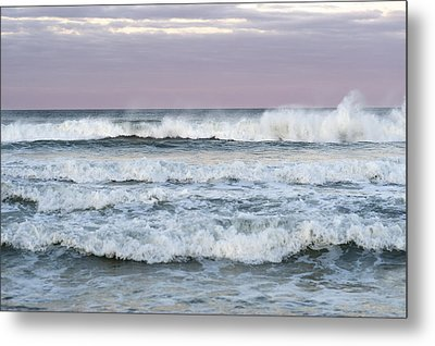 Summer Waves Seaside New Jersey Metal Print by Terry DeLuco