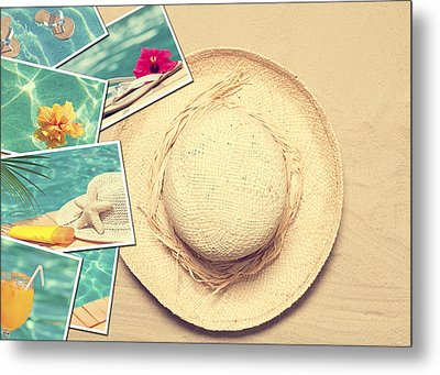 Summertime Postcards Metal Print by Amanda Elwell