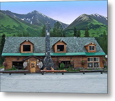 Summit Lake Lodge Alaska Metal Print by Aimee L Maher Photography and Art Visit ALMGallerydotcom