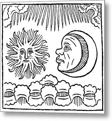 Sun And Moon, 1480 Metal Print by Granger