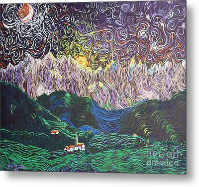 Sun And Moon Night Metal Print by Stefan Duncan