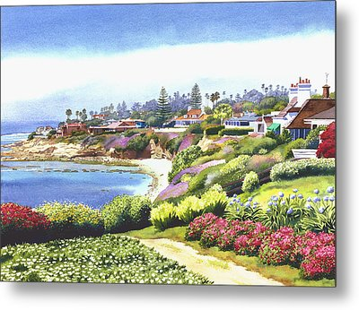 Sun Gold Point La Jolla Metal Print by Mary Helmreich