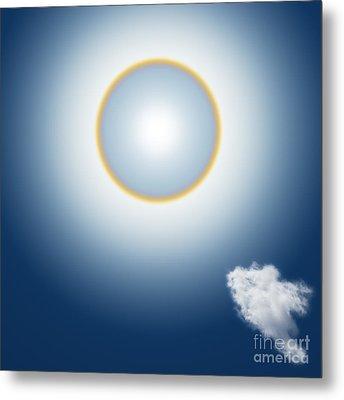 Sun Halo Metal Print by Atiketta Sangasaeng