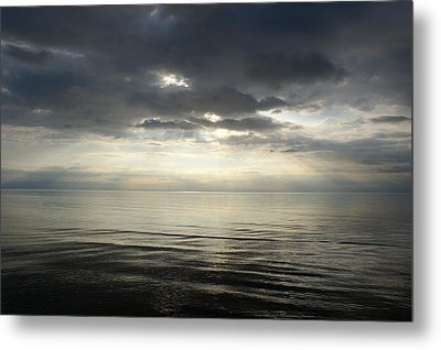 Sun Rays At Sunset Metal Print by Gynt