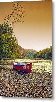 Sun Sets At Buffalo River Metal Print by Bill Tiepelman