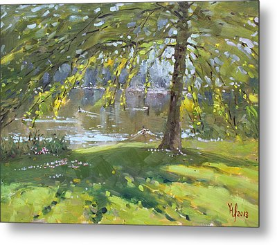 Sunday By The Pond In Port Credit Mississauga Metal Print by Ylli Haruni