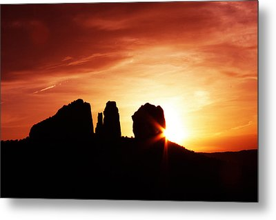 Sundown At Cathedral Metal Print by Tom Kelly