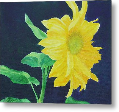 Sunflower Ballet Original Colorful Art Metal Print by K Joann Russell