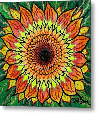 Sunflower Metal Print by Teal Swan