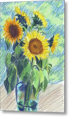 Sunflowers Metal Print by Mary Helmreich