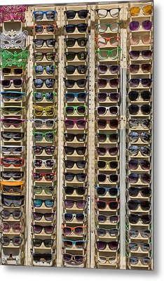 Sunglasses Metal Print by Peter Tellone