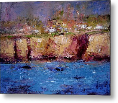 Sunlight On The Cliffs Metal Print by R W Goetting