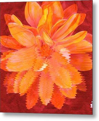 Sunny Burst Of Color Floral Metal Print by Anne-Elizabeth Whiteway