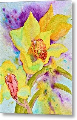 Sunny Splash Of Orchids Metal Print by Beverley Harper Tinsley