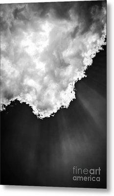 Sunrays In Black And White Metal Print by Elena Elisseeva