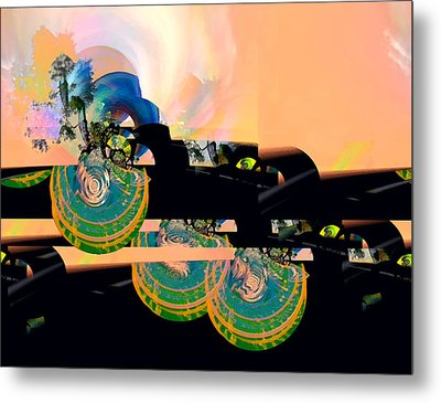 Sunrise And A Mystery Metal Print by Wendy J St Christopher
