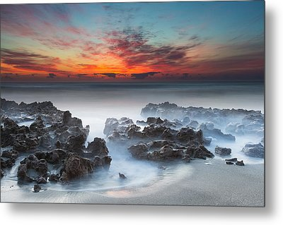 Sunrise At Blowing Rocks Preserve Metal Print by Andres Leon