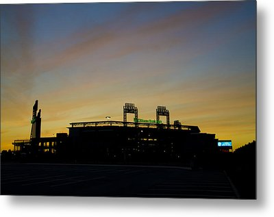 Sunrise At Citizens Bank Park Metal Print by Bill Cannon