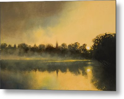 Sunrise At Notre Dame / Available As A Commission Metal Print by Cap Pannell