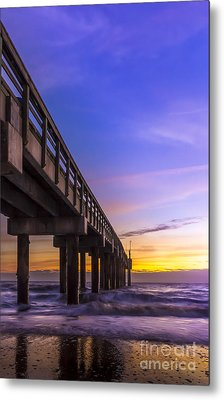 Sunrise At The Pier Metal Print by Marvin Spates