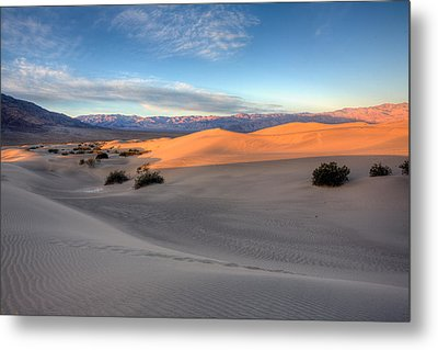 Sunrise Dunes Metal Print by Peter Tellone