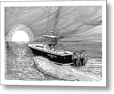 Sunrise Fishing Metal Print by Jack Pumphrey