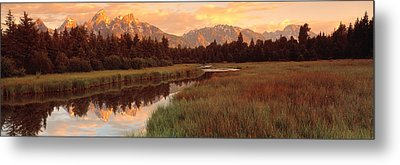 Sunrise Grand Teton National Park Metal Print by Panoramic Images