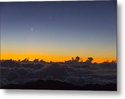 Sunrise Haleakala Volcano Metal Print by Norman Blume