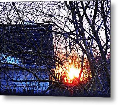Sunrise Next Door Metal Print by Sarah Loft