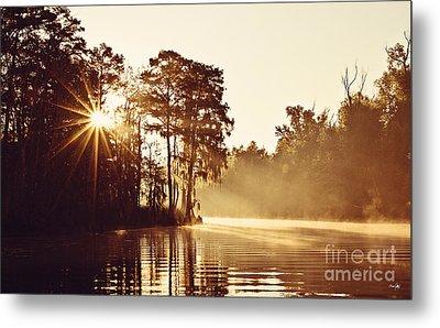 Sunrise On The Bayou Metal Print by Scott Pellegrin