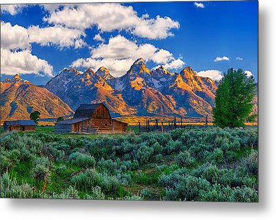 Sunrise On The Tetons Limited Edition Metal Print by Greg Norrell