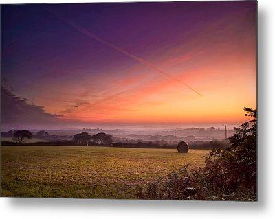 Sunrise Over Cornwall Metal Print by Christine Smart