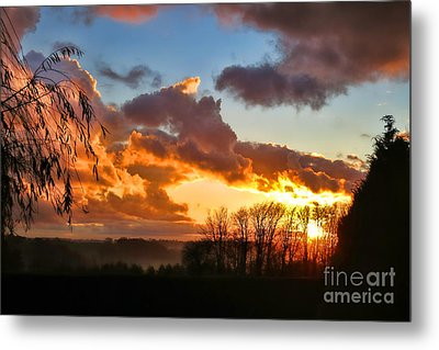 Sunrise Over Countryside Metal Print by Olivier Le Queinec