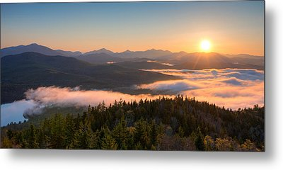 Sunrise Over The Adirondack High Peaks Metal Print by Panoramic Images
