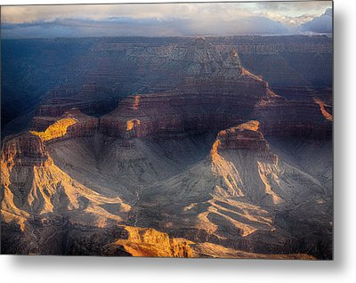 Sunrise Over The Canyon Metal Print by Lisa  Spencer