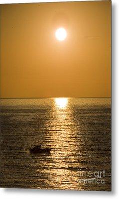 Sunrise Over The Mediterranean Metal Print by Jim  Calarese