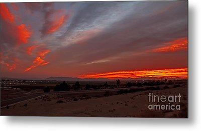 Sunrise Over Yuma Metal Print by Robert Bales