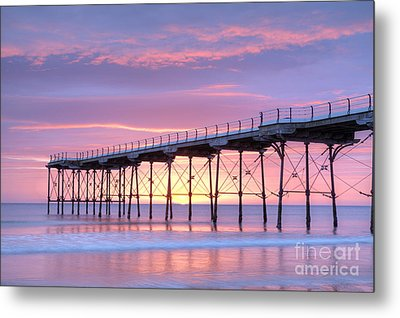 Sunrise Pier Metal Print by Colin and Linda McKie