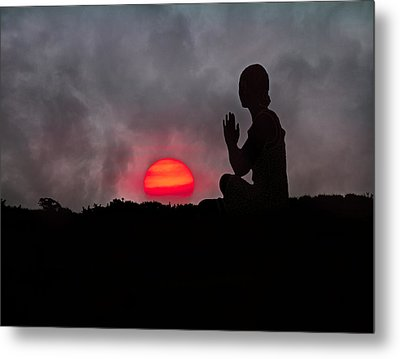 Sunrise Prayer Metal Print by Betsy C Knapp