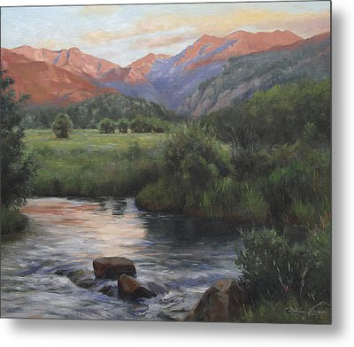 Sunrise Rocky Mountain National Park Metal Print by Anna Rose Bain