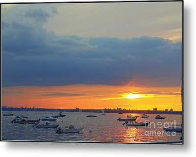 Sunset And Blue Clouds Metal Print by Dora Sofia Caputo Photographic Art and Design