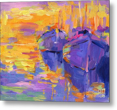 Sunset And Boats Metal Print by Svetlana Novikova