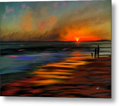 Sunset At Capo Beach In California Metal Print by Angela A Stanton